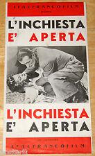 brochure originale L'INCHIESTA E' APERTA Jean Debucourt Elina Labourdette 1953
