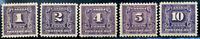 Canada #J6-J10 mint VF OG HR/H 1930-1932 Second Postage Due Set CV$250.00