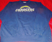 MEN'S/BOYS/WOMEN'S SAN DIEGO CHARGERS L/S PULLOVER SWEATSHIRT NAVY SZ S -REDUCED