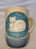 hand crafted otagiri coffee cup cat