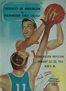 1956 WASHINGTON vs WASHINGTON STATE BASKETBALL PROGRAM