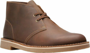 NEW Mens Clarks Size 12 Chukka Boots Bushacre 2 Leather Brown Distressed 15522
