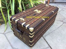 LOUIS VUITTON Antique Ideal Monogram Wardrobe Steamer Trunk chest purse bag LV