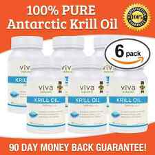 Krill Oil 6 bottles (1250 MG) Viva Naturals Krill Oil FREE SHIPPING