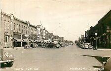 South Dakota, Sd, Madison, Egan Ave 1940's Real Photo Postcard