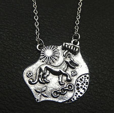 Antique Silver Plated Teen Wolf  Allison Argent's Pendant Necklace 20""