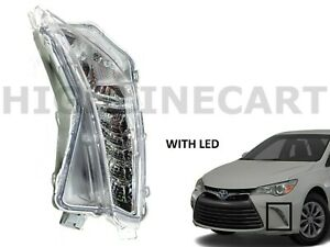 For 2015 2016 2017 Toyota Camry Left Front Day Time Running Light Lamp LED DRL