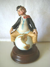 """I'm Sittin' on Top of the World"" Porcelain Clown Music Box,1980"