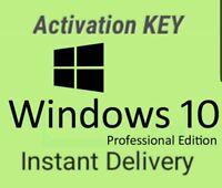 Microsoft Windows 10 Pro Professional 32 64 bit LICENSE KEY New Instant Delivery