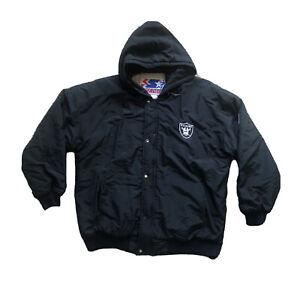 Vintage Oakland Raiders Starter Jacket Pullover Hooded Mens Large