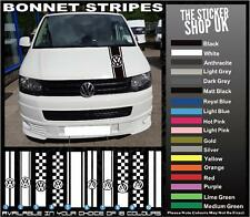 VW Volkswagen Transporter Caddy Van Bonnet Stripes T4 T5 Vinyl Stickers Decals