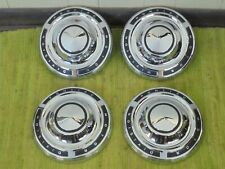 "NOS 61 62 63 Pontiac Dog Dish HUB CAPS 9 3/4"" Set of 4 Hubcaps Super Duty"