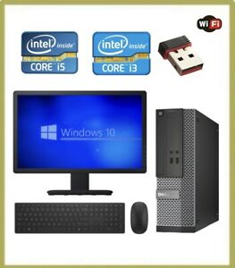 FAST CHEAP WiFi  CORE i3 & i5 WINDOWS 10 PC DESKTOP COMPUTER FULL SET-UP BUNDLE