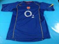 authentic vtg Arsenal 2004 06 away  soccer football shirt jersey