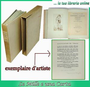 livre precieux edition limitee exemplaire d'artiste eaux fortes DAPHNIS ET CHLOE