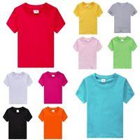 Fruit of The Loom Kids Boys Girls Childrens School Plain Casual T Tee Shirt