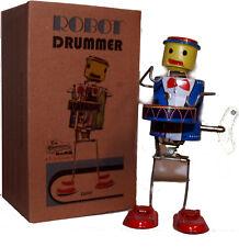 Robot Drummer Windup Tin Toy Wacky Swaying Motion