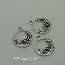 15X Tibetan Silver Mermaid Charm Pendant Beads Jewellery Craft Wholesale   GU940