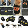 Small Dog Puppy Black Vest Pet Clothes Christmas Hallowee Coat Apparel Costumes