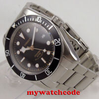 41mm CORGEUT sterile dial date window Sapphire Glass steel automatic mens Watch