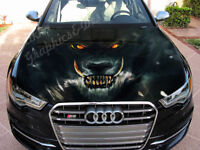 Vinyl Car Hood Wrap Full Color Graphics Decal Wolf Bestial Grin Sticker