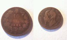 Moneta Regno d'Italia 10 centesimi 1866 M