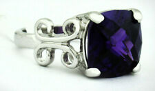 AMETHYST 6.85 Cts RING SILVER PLATED ** New With Tag ** Size 7