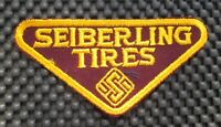 "SEIBERLING TIRES EMBROIDERED SEW ON ONLY PATCH ADVERTISING COMPANY 4"" x 2"""