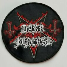 Dark Funeral Red-Logo Circle EMBROIDERED PATCH
