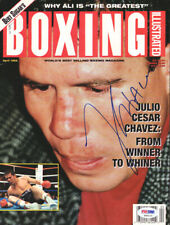 Julio Cesar Chavez Autographed Signed Boxing Illustrated Cover PSA/DNA S42112
