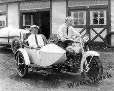Photograph Harley Davidson Sidecar Motorcycle & Murphy / Olson Year 1922  8x10