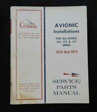 "1974 1975 1976 CESSNA 150 172 177 Avion "" Instal "" Service Parties Manuel"