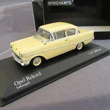 522E Minichamps Opel Rekord P1 Saloon 1958 Jaune 1:43