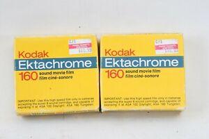 2 cartridges Super 8 Sound Ektachrome 160 15m CAT 165 5125 READ: 1 broken film