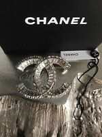 NWT CHANEL CRYSTAL COUTURE CC BROOCH 2018 2019 XL Strass Baguette Classic Pin