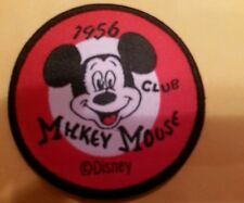 """MICKEY Mouse  club 1956 SEW on patch mint never used 2.5"""" x 2.5"""""""