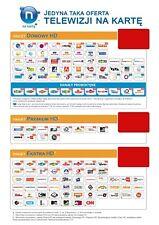 PAKIET domowy HD PREMIUM HD Telewizja na karte NC + 3 miesiące zasilenie