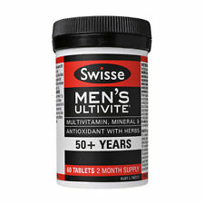 Swisse Mens Ultivite 50 Multivitamin Mineral Antioxidant W/ Herbs 90 Tablets 1a