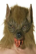 Smife Smiffys Wolf Mask Overhead With Fur - Brown
