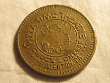 Rare 1981 Fullerton CA Chuck E Cheese PizzaTime City TOKEN COIN