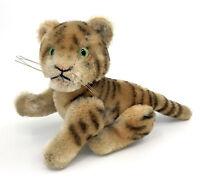 Steiff Tiger Jointed Mohair Plush 10cm 4in ID Button 1952 -59 Vintage