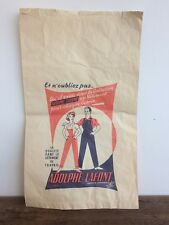Vtg French Workwear 40s 50s Adolphe Lafont Bag Poster Print Deadstock Lyon Chore