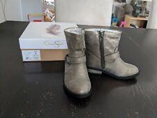 NIB Jessica Simpson Peyton Pewter Metallic Boots Size 9