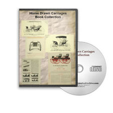 Horse Drawn Carriages Coaches Chariots - History, Catalogs, Designs CD - B437
