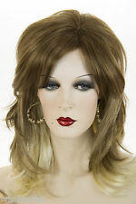 Lt Gold Reddish Brown/& Tip Pale Blonde/Pale Blnd Long Medium Wavy Straight Wigs