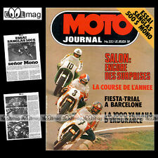 MOTO JOURNAL N°333 MICK GRANT MALLORY PARK PAUL RICARD ★★ SANGLAS 500 S ★★ 1977
