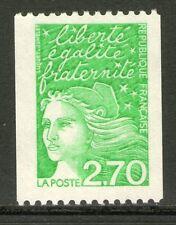 TIMBRE N° 3100a NEUF XX - MARIANNE DE LUQUET - ROULETTE N° ROUGE AU DOS