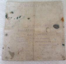 2ww prisoner of war cotton comfort bag from british red cross /st john sent home