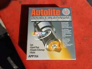 Lot of 4- Autolite APP764 Autolite Double Platinum Spark Plug
