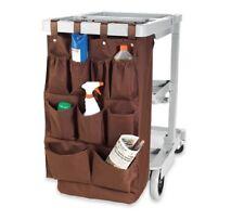 Housekeeping Brown Fabric 9-Pocket Organizer Hanging Cart Caddy
